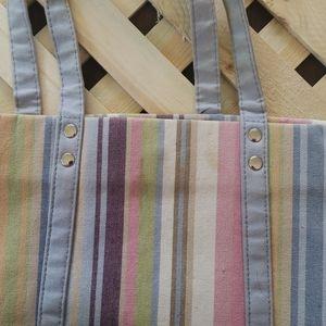 Longaberger Bags - Longaberger Stripped magnetic close purse